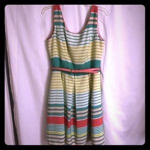 Tiana B pastel striped dress